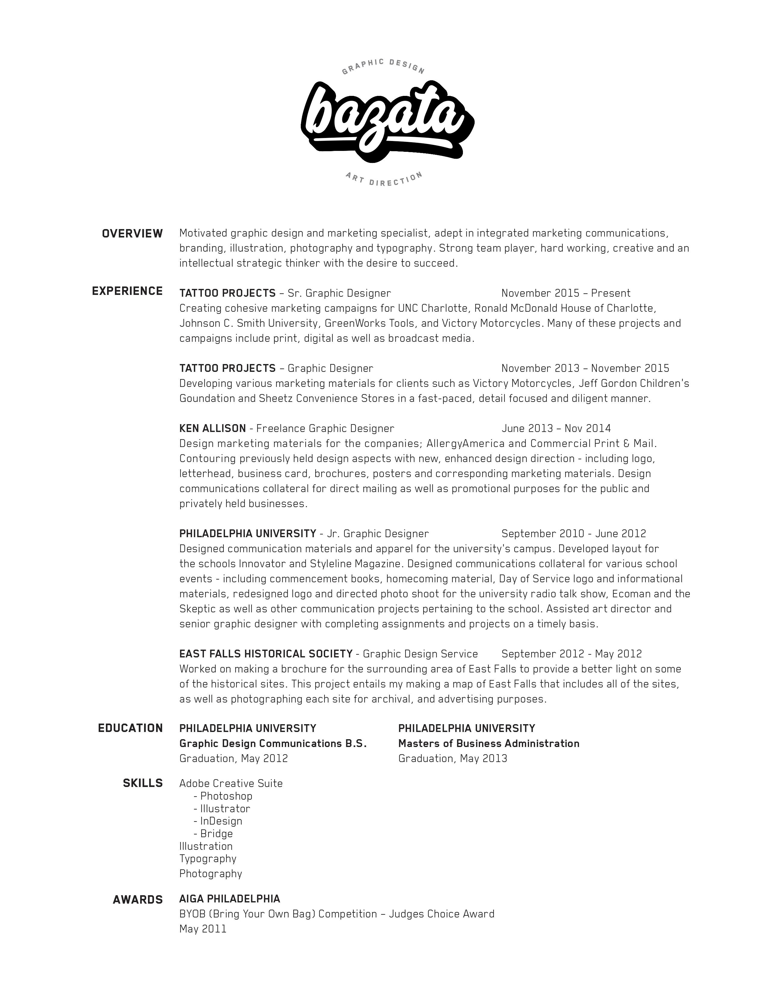 Graphic Design Portfolio - Home